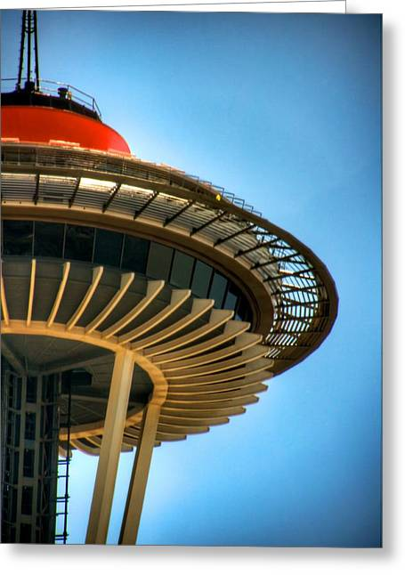 Seattle Center Greeting Cards - Retro Needle Greeting Card by Spencer McDonald