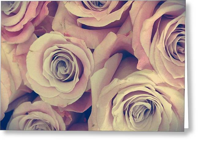 Retro Roses Greeting Card by Marianna Mills