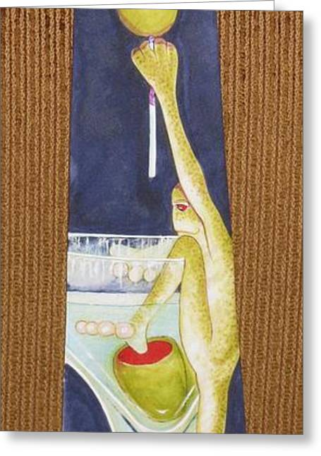 Amphibians Tapestries - Textiles Greeting Cards - Return of the Corporate Lunch Greeting Card by David Kelly