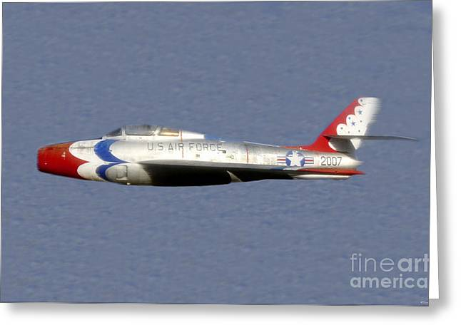 Jet Art Greeting Cards - Return of the F 84 Greeting Card by David Lee Thompson