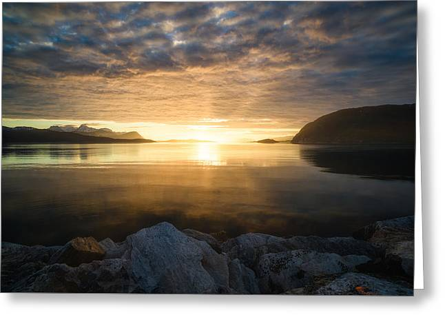 Midnight Greeting Cards - Return of the sun Greeting Card by Tor-Ivar Naess