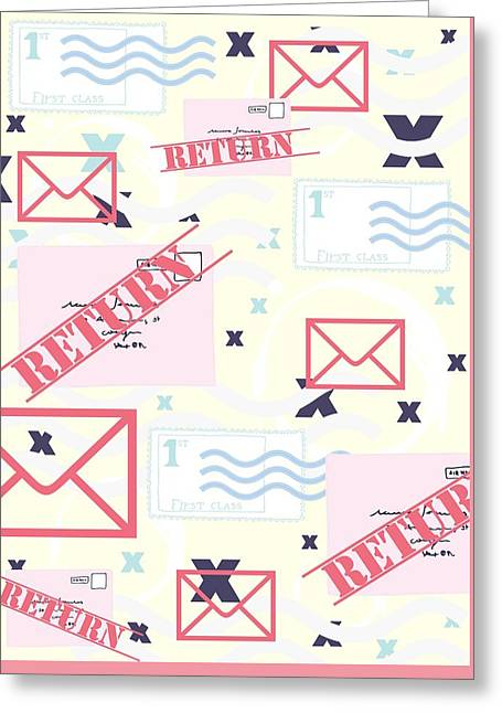Return To Sender Greeting Card by Beth Travers