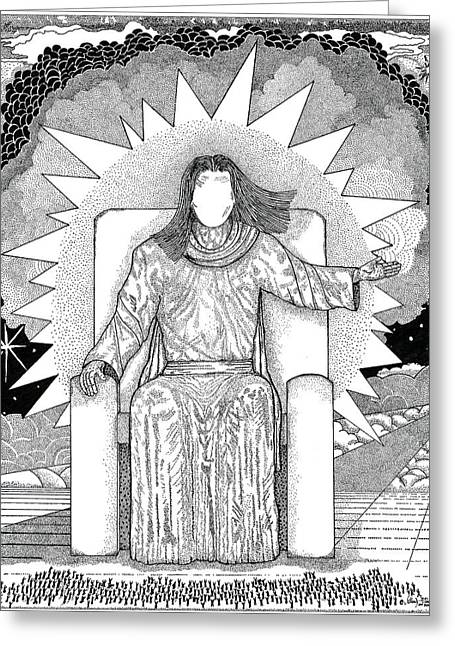 Inspirational. Pointillism Greeting Cards - Revelation 20 Greeting Card by Glenn McCarthy Art and Photography