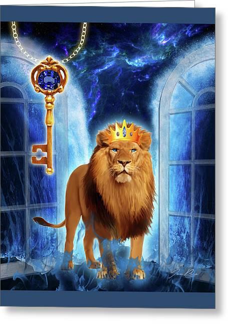 Revelation Gate Greeting Card by Jennifer Page