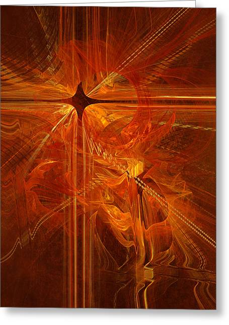 Doomsday Greeting Cards - Revelation in fire Greeting Card by Martin Capek