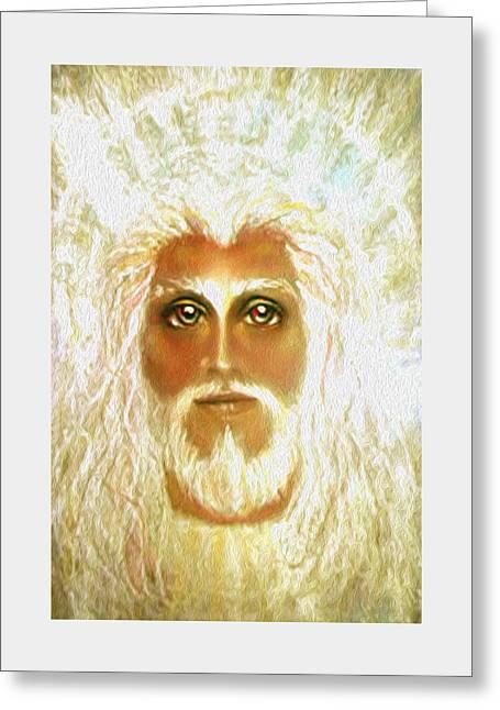 Thomas Pastels Greeting Cards - REVELATION Pastel Eikons of Christ Greeting Card by Vicki Thomas