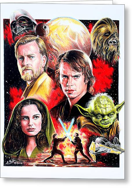 Revenge Of The Sith Greeting Card by Andrew Read