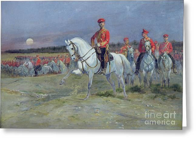 Alexandrovich Greeting Cards - Reviewing the Troops Greeting Card by Jean Baptiste Edouard Detaille