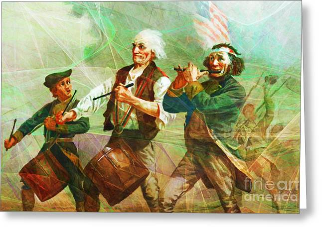 4th July Digital Greeting Cards - Revisiting The Spirit of 76 20150704long Greeting Card by Wingsdomain Art and Photography