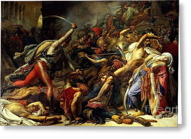 Girodet Greeting Cards - Revolt in Cairo Greeting Card by MotionAge Designs
