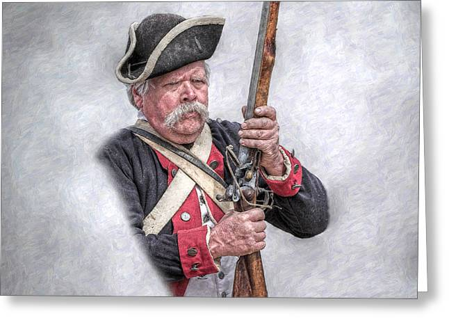 Lexington And Concord Greeting Cards - Revolutionary War American Soldier Greeting Card by Randy Steele
