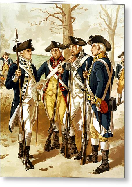 Revolutionary War Infantry Greeting Card by War Is Hell Store
