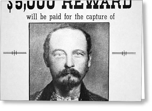 Reward poster for Thomas Cole Younger Greeting Card by American School
