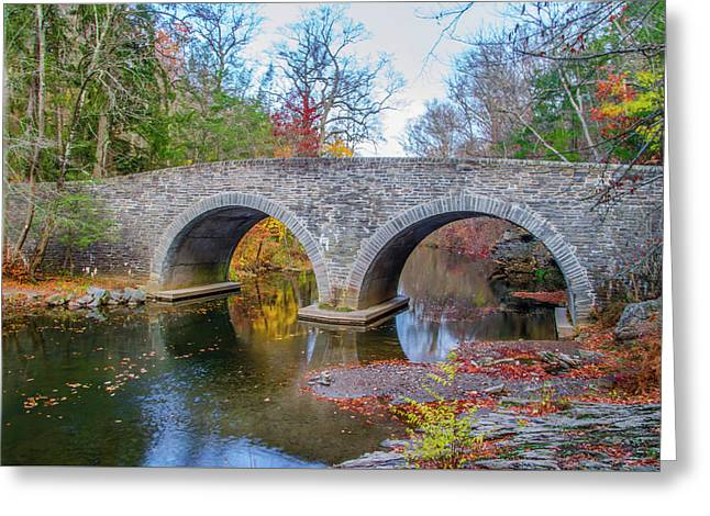 Rex Avenue Bridge In Autumn Greeting Card by Bill Cannon