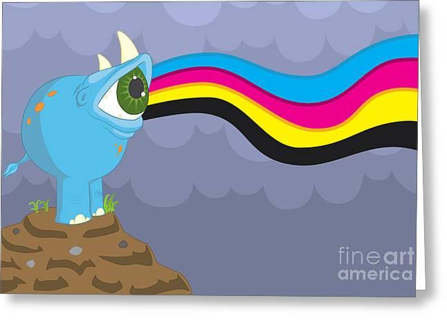 Rhinoceros Digital Greeting Cards - Reyeno Greeting Card by Kyle Harper