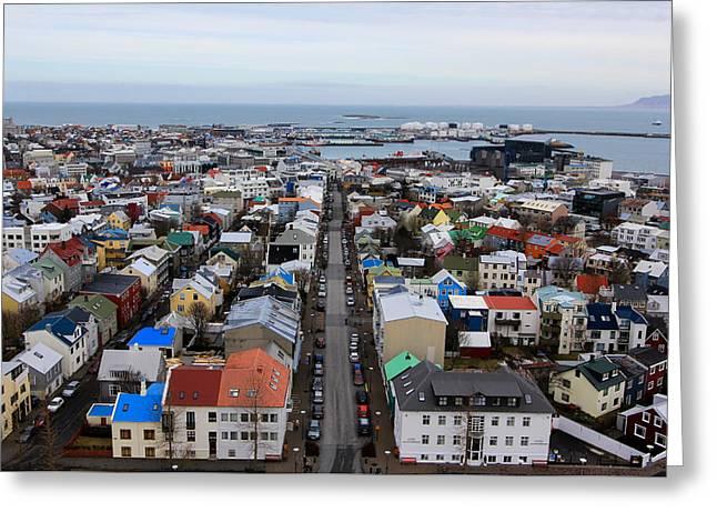March Greeting Cards - Reykjavik Greeting Card by Jennifer Phlieger Ansier