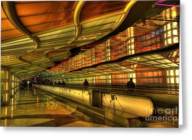Airport Concourse Greeting Cards - Rhapsody in blue Greeting Card by David Bearden