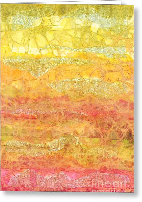 Medium Pink Greeting Cards - Rhapsody of Colors 30 Greeting Card by Elisabeth Witte - Printscapes