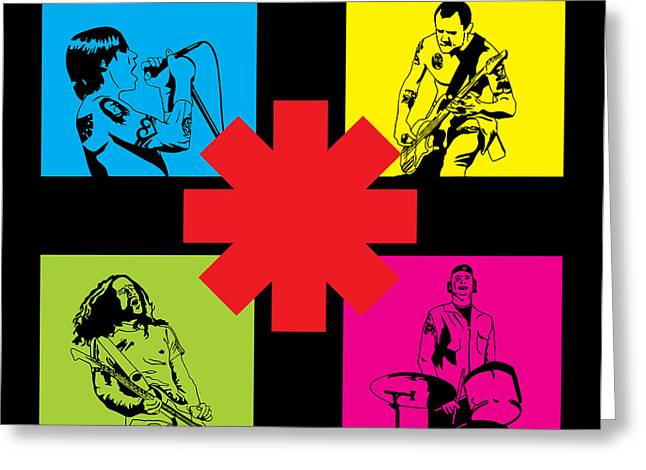 Hot Color Greeting Cards - RHCP No.01 Greeting Card by Caio Caldas