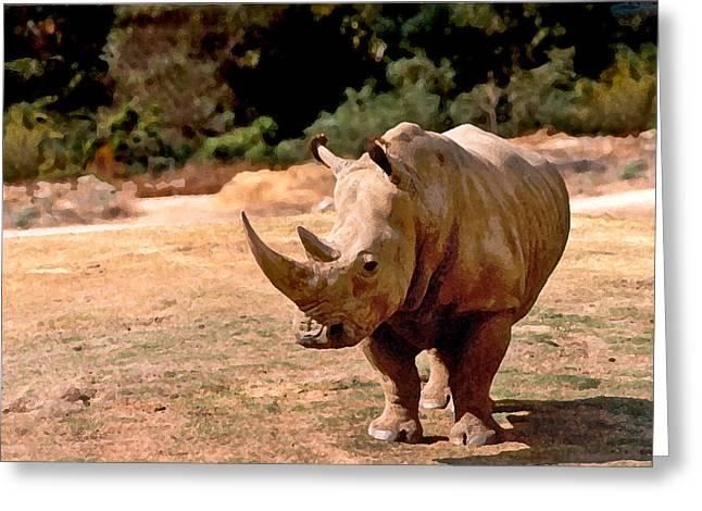 Rhino Greeting Card by Steve Karol