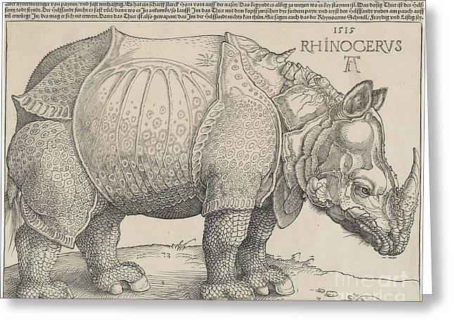 Rhinoceros Greeting Cards - Rhinoceros Greeting Card by Celestial Images