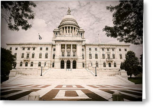 Capitol Greeting Cards - Rhode Island State House Greeting Card by Lourry Legarde