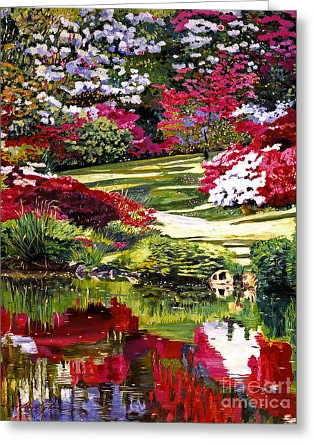 B.c. Greeting Cards - Rhodendron Reflections Greeting Card by David Lloyd Glover