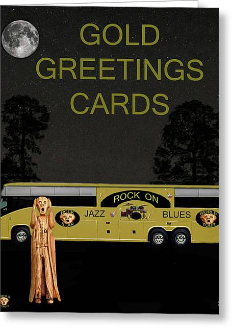Tour Bus Mixed Media Greeting Cards - Rhythm and Blues Tour Greeting Card by Eric Kempson