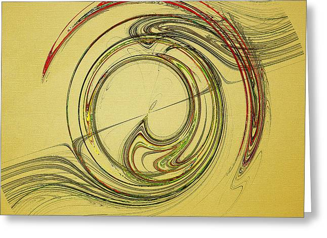 Abstract Digital Photographs Greeting Cards - Flowing Rhythms Greeting Card by Jan Tyler