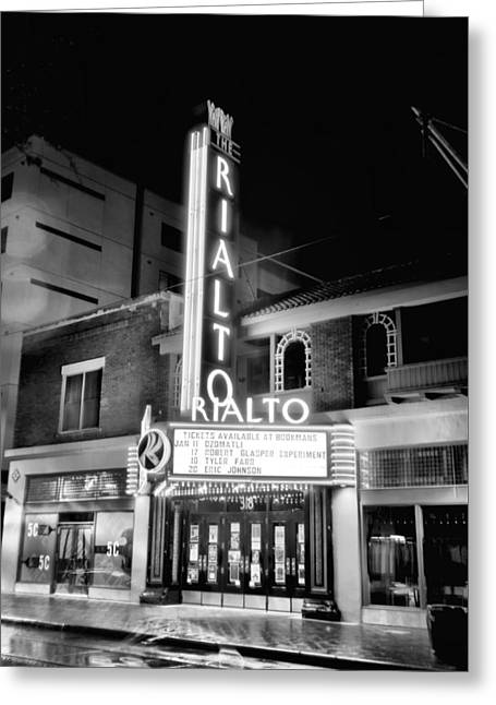 Theater Greeting Cards - Rialto in B/W Greeting Card by Scott Holleman