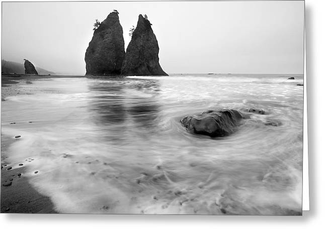 Sand Beach Greeting Cards - Rialto Reflections Greeting Card by Mike  Dawson