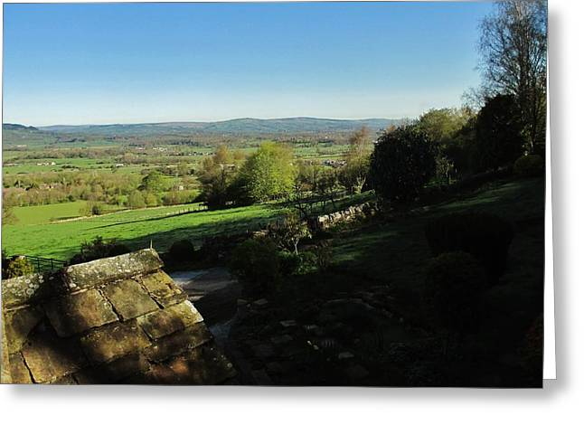 Whalley Greeting Cards - Ribble Valley Northwestward Greeting Card by CL Redding