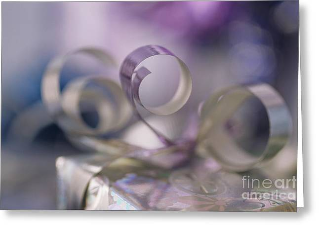 Tabletop Greeting Cards - Ribbon Christmas Greeting Card by Jim Corwin