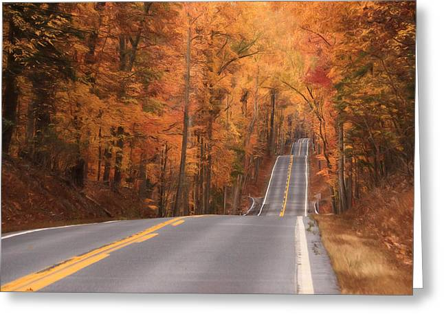 Ribbon Of Highway Greeting Card by Lori Deiter
