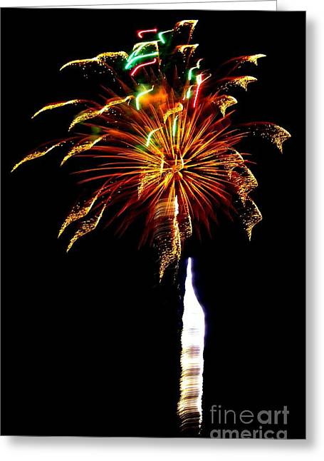 4th July Greeting Cards - Ribbons of Light Greeting Card by Leah McPhail