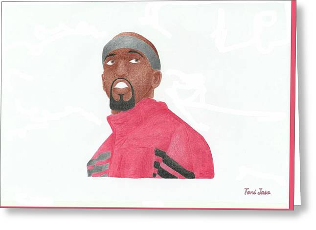 Chicago Bulls Art Drawings Greeting Cards - Richard Hamilton Greeting Card by Toni Jaso