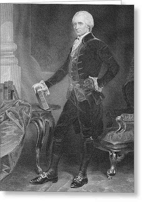 Alonzo Greeting Cards - Richard Henry Lee 1732 - 1794. American Greeting Card by Ken Welsh