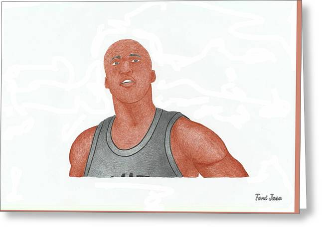 Slam Drawings Greeting Cards - Richard jefferson Greeting Card by Toni Jaso