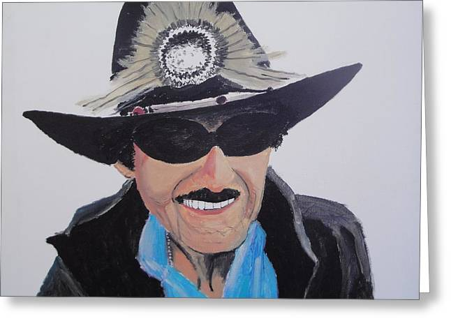 Richard Petty Greeting Card by Stephen Ponting