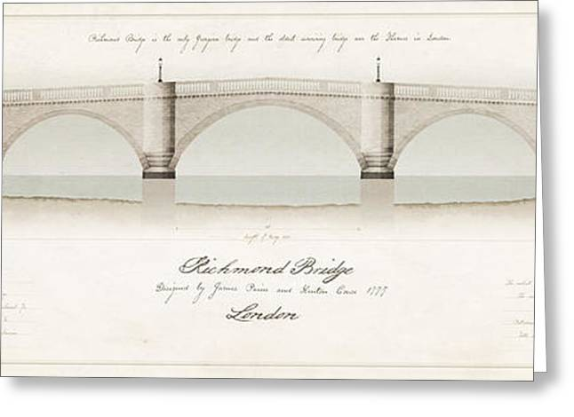 Richmond Bridge Greeting Cards - Richmond Bridge London Greeting Card by J Fagence