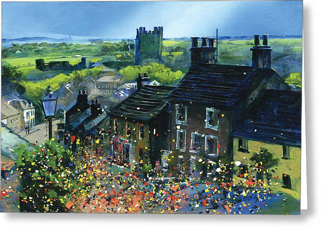 Neil Mcbride Greeting Cards - Richmond Carnival in Frenchgate Greeting Card by Neil McBride