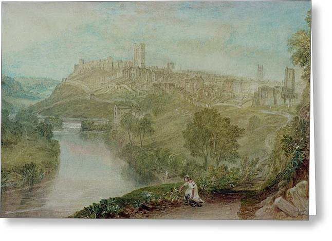 Richmond Bridge Greeting Cards - Richmond in Yorkshire Greeting Card by Joseph Mallord William Turner