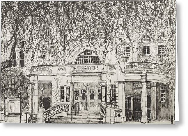 Entrance Door Greeting Cards - Richmond Theatre London Greeting Card by Vincent Alexander Booth