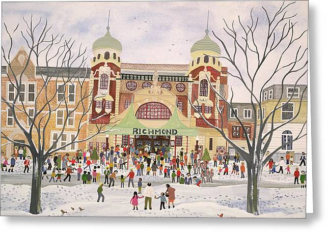 Robin Greeting Cards - Richmond Theatre   Surrey Greeting Card by Judy Joel