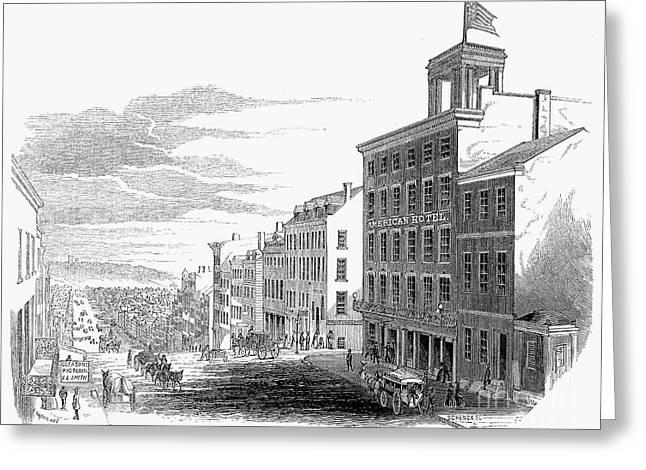 Main Street Greeting Cards - Richmond, Virginia, 1853 Greeting Card by Granger