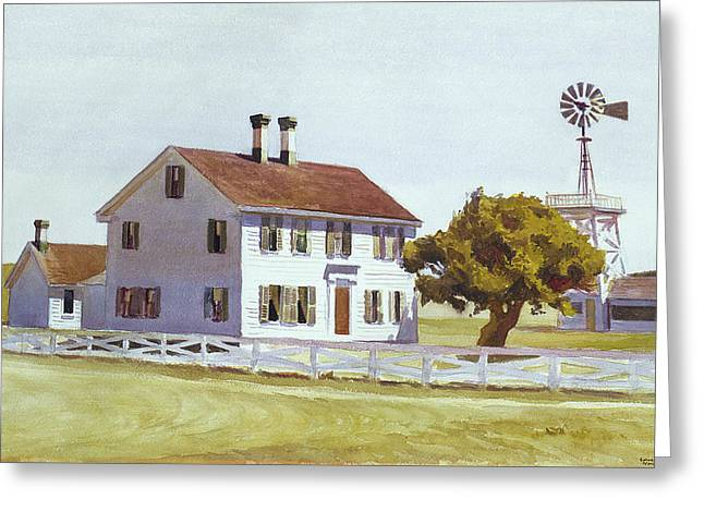 Rich's House Greeting Card by Edward Hopper