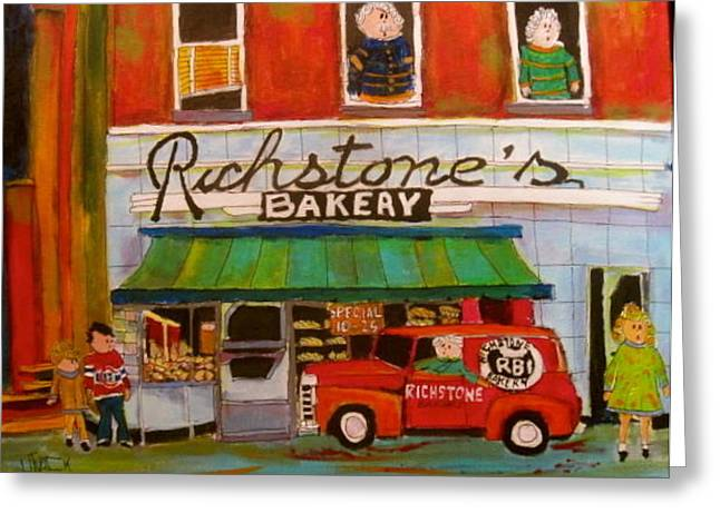 Richstone's Bakery Greeting Card by Michael Litvack