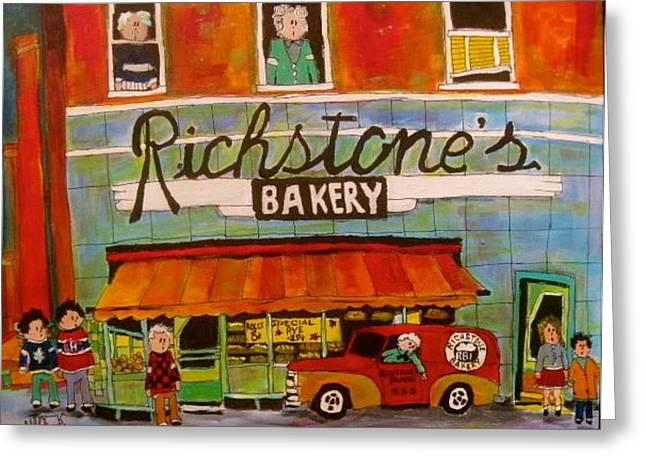 Richstone's Bakery Ndg Greeting Card by Michael Litvack
