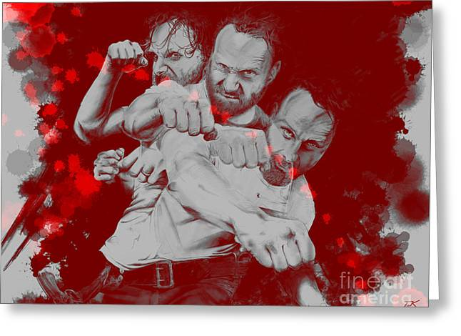 Rick Grimes Greeting Card by David Kraig