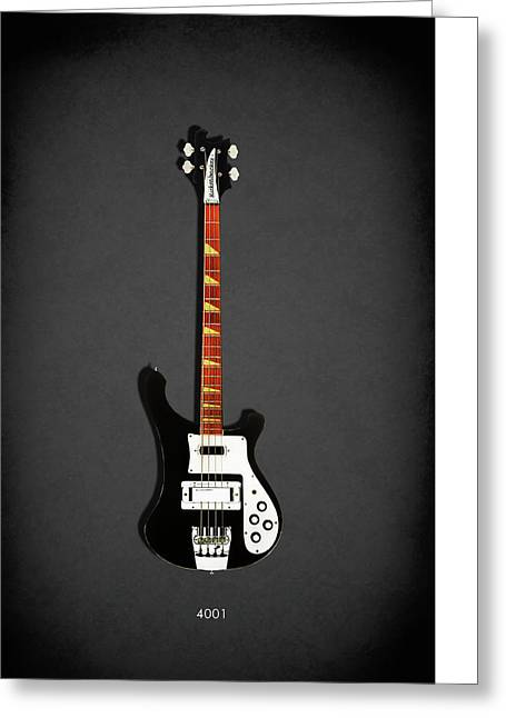 Electric Guitar Greeting Cards - Rickenbacker 4001 1979 Greeting Card by Mark Rogan